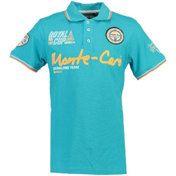 Vêtements Garçon Polos manches courtes Geographical Norway Polo Enfant Karo Turquoise