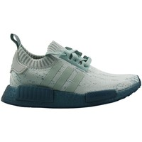 Chaussures Femme Baskets basses adidas Originals Nmd R1 Primeknit Women Vert-Gris