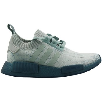 Chaussures Femme Baskets basses adidas Originals Nmd R1 Primeknit Women Gris-Vert