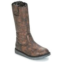 Chaussures Fille Bottes ville Mod'8 ALTANA Noir / Bronze