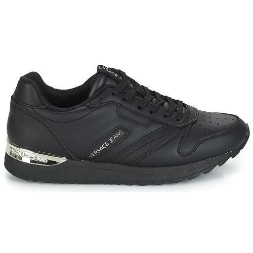 Femme Baskets Noir Chaussures Versace Jeans Basses Tapado nwvm0ON8