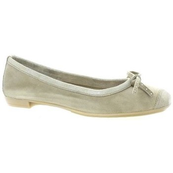 Chaussures Femme Ballerines / babies So Send Ballerines cuir velours Taupe