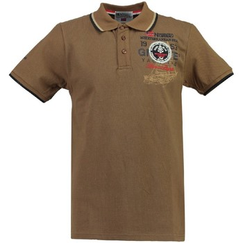 Vêtements Homme Polos manches courtes Geographical Norway Polo Homme Kavigation Taupe