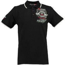 Vêtements Homme Polos manches courtes Geographical Norway Polo Homme Kavigation Noir