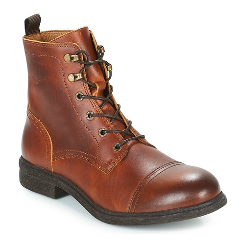 Selected TERREL LEATHER BOOT Cognac  - Chaussures Boot Homme