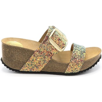 Chaussures Femme Mules Take Me SANDALE COMPENSEE WILL 030 C010 MULTICOLOR