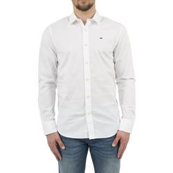 Vêtements Homme Chemises manches longues Tommy Hilfiger chemise  dm0dm04405 blanc blanc