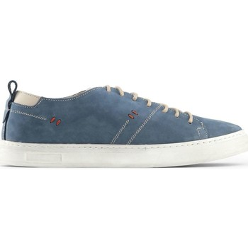 Chaussures Homme Baskets mode Made In Italia - Sneakers Attilio en cuir - Bleu marine Bleu