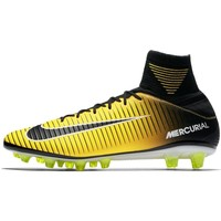 Chaussures Homme Baskets montantes Nike Mercurial Veloce Iii DF Agpro Solar Flare Noir-Jaune
