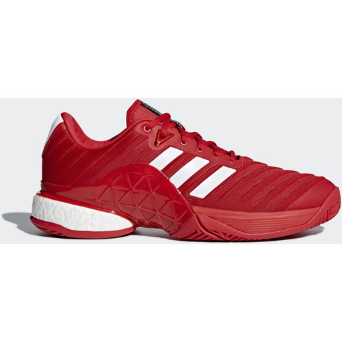 adidas Performance Chaussure Barricade 2018 Noir / Blanc / Rouge - Chaussures Baskets basses Homme