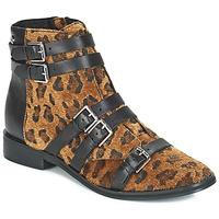 Chaussures Femme Bottines Le Temps des Cerises IZY Léopard