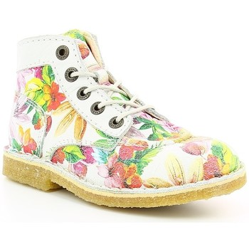 Chaussures Fille Boots Kickers KICK LEGEND TROPICAL Blanc Tropical