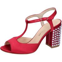 Chaussures Femme Sandales et Nu-pieds Lella Baldi sandales rouge satin strass AH826 rouge