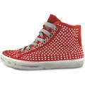 Crime London chaussures fille  sneakers rouge daim strass AH982