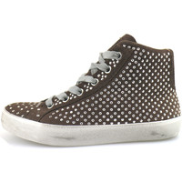 Chaussures Fille Baskets montantes Crime London chaussures fille  sneakers marron daim strass AH983 marron