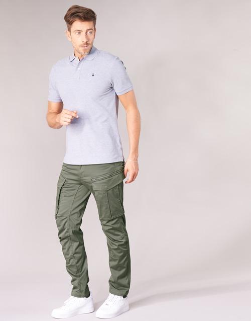 Zip Homme Pantalons 3d Gris star Cargo Vert Raw Rovic Tapered G Straight QWErxoeCBd