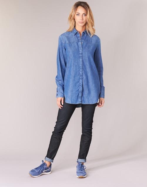 Vêtements Femme Jeans skinny G-Star Raw LYNN MID SKINNY Bleu Dark Aged