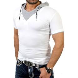 Vêtements Homme T-shirts & Polos Rerock T-shirt fashion à capuche T-shirt I242 blanc Blanc