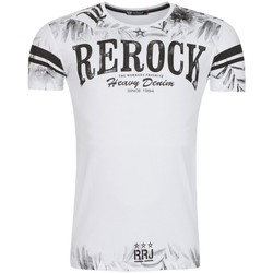 Vêtements Homme T-shirts & Polos Monsieurmode T-shirt imprimé fashion T-shirt 1900 blanc Blanc
