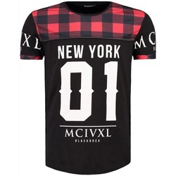 Vêtements Homme T-shirts & Polos Monsieurmode T-shirt imprimé New York T-shirt 512031 noir Noir