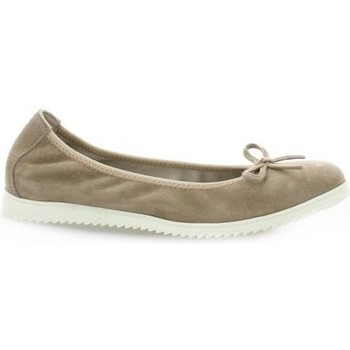 Chaussures Femme Ballerines / babies Latina Ballerines cuir velours Taupe