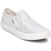Chaussures Enfant Slips on Geox Junior Kilwi Blanc-Argent