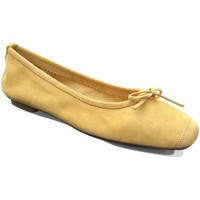 Chaussures Femme Ballerines / babies Reqins Ballerines Plates Harmony Peau Ocre jaune