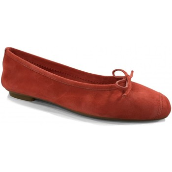 Chaussures Femme Ballerines / babies Reqins Ballerines Plates Harmony Peau Fraise rouge