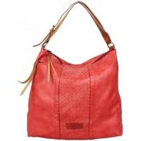 Sacs Femme Sacs porté épaule Fuchsia Sac seau épaule déco tressée  rouge Multicolor
