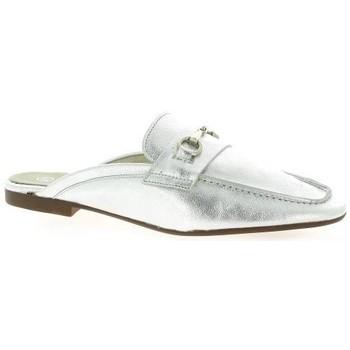 Chaussures Femme Sabots Latina Mules cuir laminé Argent