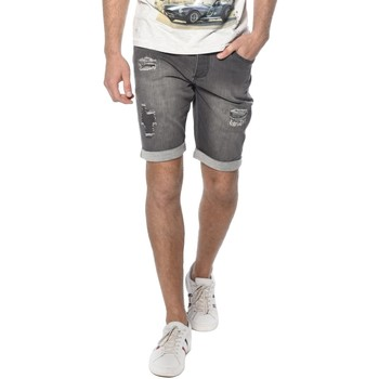 Vêtements Homme Shorts / Bermudas Deeluxe Short en denim destroy Bullet gris
