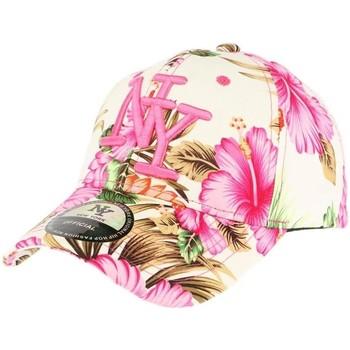 Accessoires textile Enfant Casquettes Hip Hop Honour Casquette Enfant Florale Rose de 7 à 11 ans Rose