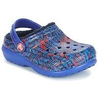 Chaussures Enfant Sabots Crocs CLASSIC LINED GRAPHIC CLOG K Bleu