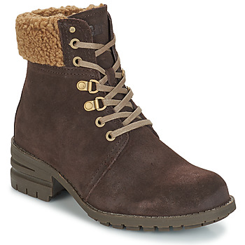 Chaussures Femme Bottines Caterpillar CORA FUR Dark brown