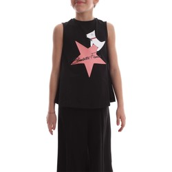Vêtements Enfant T-shirts manches courtes Elisabetta Franchi EFTS34 JE95 RE001 T-SHIRT fille Nero Nero