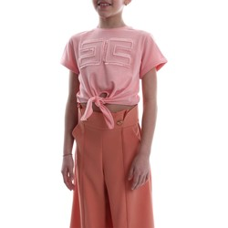 Vêtements Enfant T-shirts manches courtes Elisabetta Franchi EFTS26 JE95 RE008. T-SHIRT fille Rosa Rosa