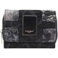 Sacs Femme Porte-Documents / Serviettes Fuchsia Porte monnaie femme toile style effet brodé  noir Noir