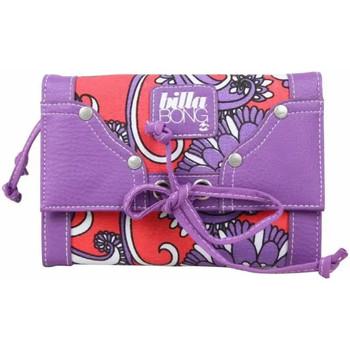 Sacs Femme Porte-monnaie Billabong Grand porte monnaie et cartes toile violet motif rouge Violet