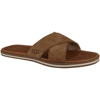 Chaussures Homme Claquettes UGG BEACH SLIDE noisette
