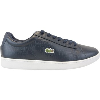 Chaussures Homme Baskets basses Lacoste Carnaby Evo Croco Bleu