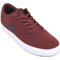 Chaussures Homme Baskets basses Nike SB Check Solar CNVS 843896 Sneakers de Hombre rouge