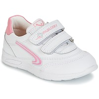 Chaussures Fille Baskets basses Pablosky BRAVIN BLANC ROSE