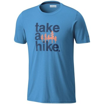 Vêtements Homme T-shirts manches courtes Columbia M Miller Valley Ss Tee bleu turquoise