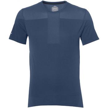 Vêtements Homme T-shirts manches courtes Asics Tee-shirt  Gel-Cool Seamless SS - Ref. 154571-0793 Bleu