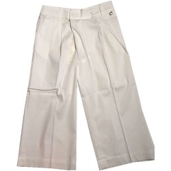 Vêtements Enfant Pantalons fluides / Sarouels Twin Set GS82QQ pantalon fille blanc blanc