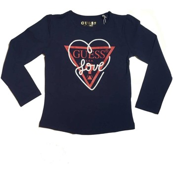 Vêtements Fille T-shirts manches longues Guess # Baby K81I07J1300 T-shirt fille bleu bleu