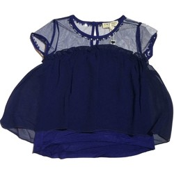 Vêtements Fille Robes courtes Twin Set GS82B2 1 pull-over fille bleu bleu