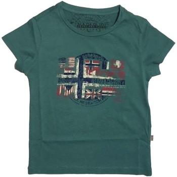 Vêtements Enfant T-shirts manches courtes Napapijri Kids K SEY T-shirt Enfant militaire militaire