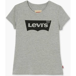 Vêtements Fille T-shirts manches courtes Levi's Junior N91050J T-shirt fille Gris Gris