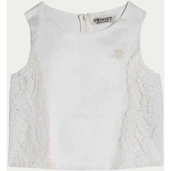 Vêtements Fille Tops / Blouses Twin Set GS8LDB 1 Top fille blanc blanc